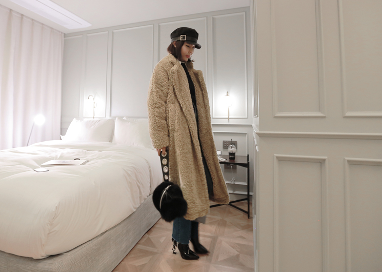 wave fur coat