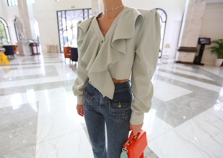 barbi blouse (mint)