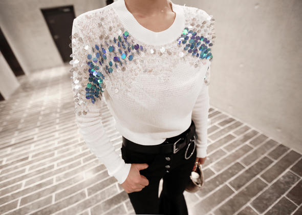 spangle angel knit