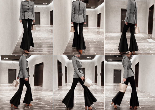 flare button pants