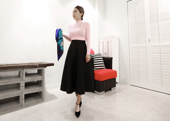 hepburn look skirt (black)