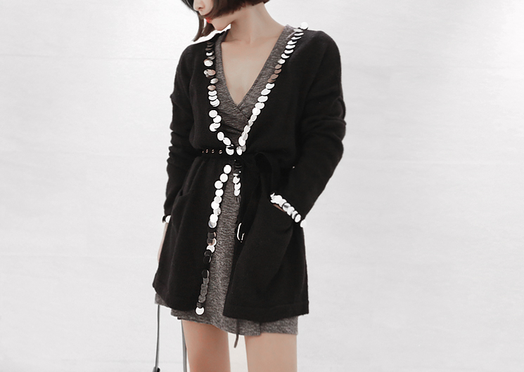 matthew cardigan (black)