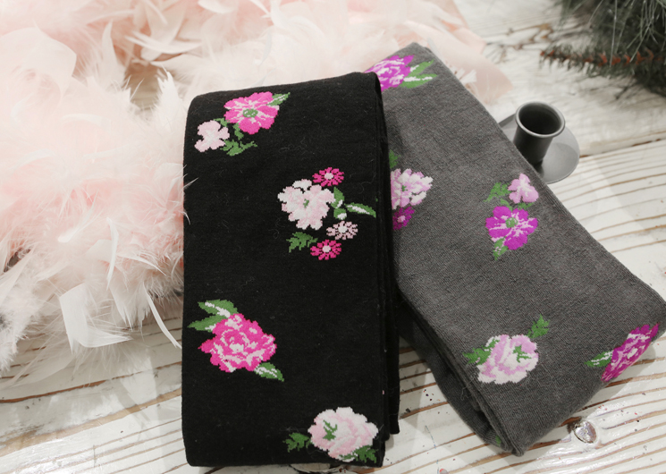 cotton flower stocking