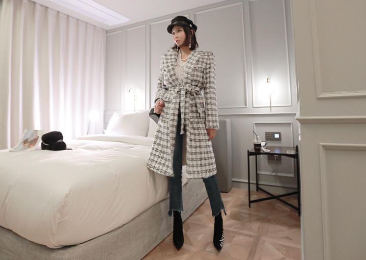 grace check coat