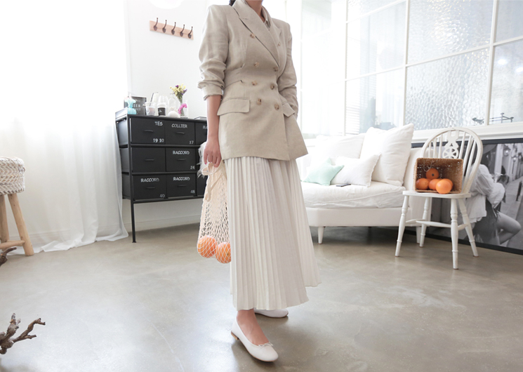 edge linen jacket (beige)