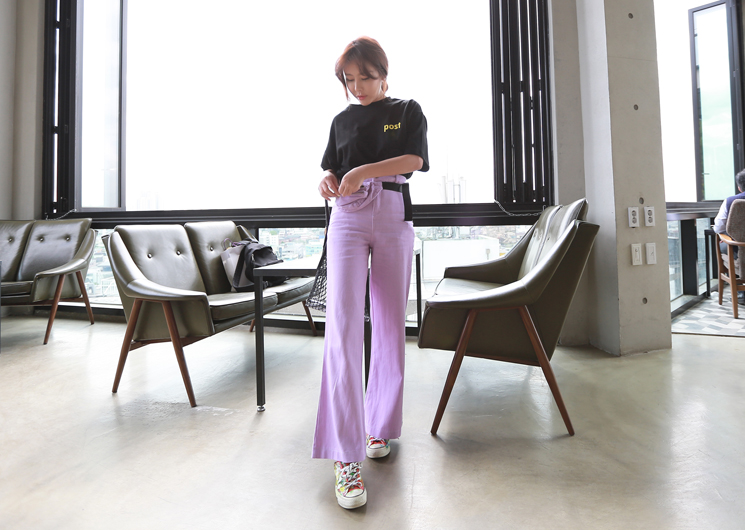 belt bag pants (purple)
