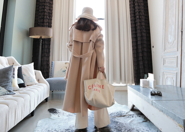 dear wool coat (beige)