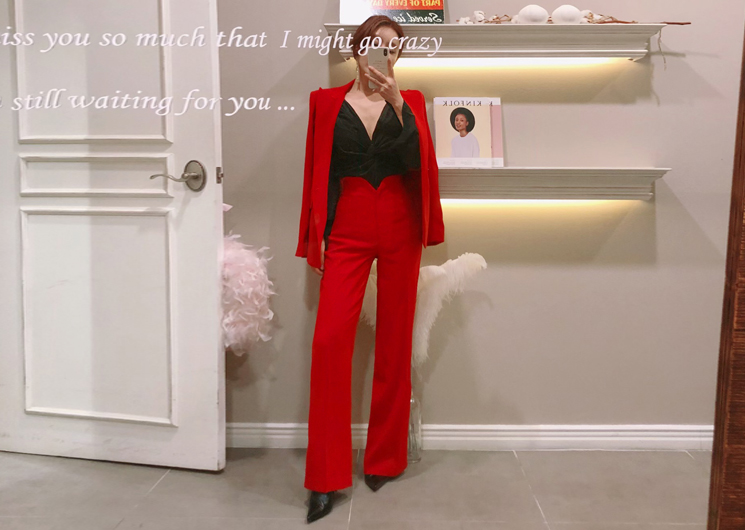 palette pants (red)