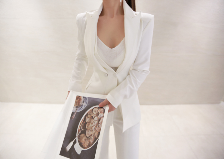 two line jacket (ivory)