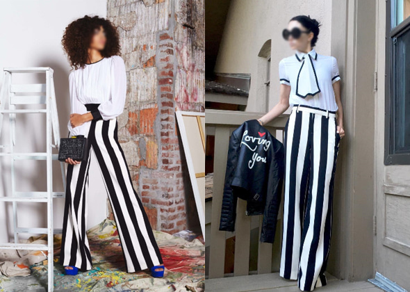walking flea market- original stripe pants
