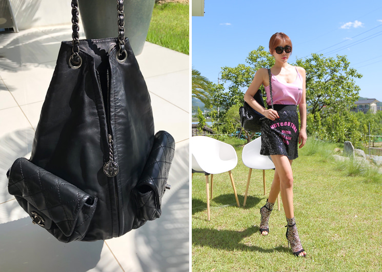 walking flea market-black chanel