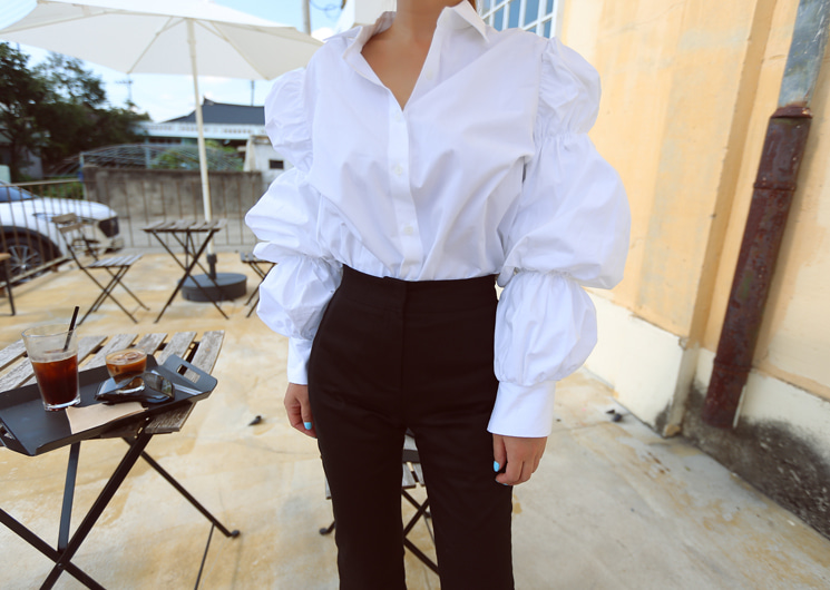 puff line blouse