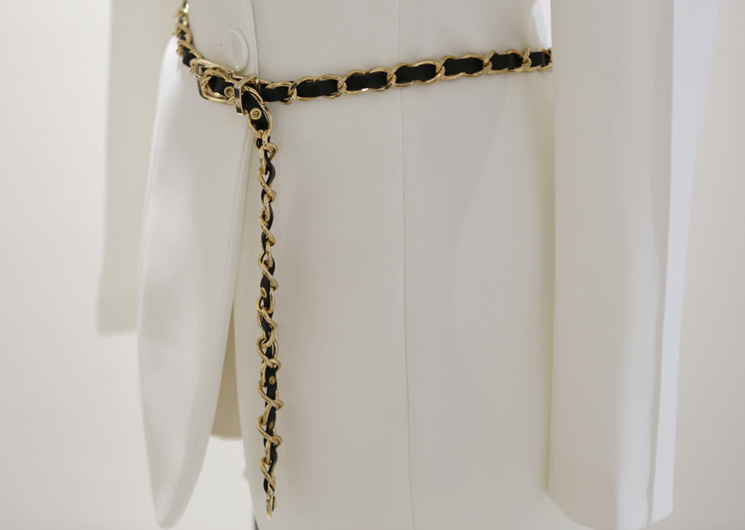 leather chain belt