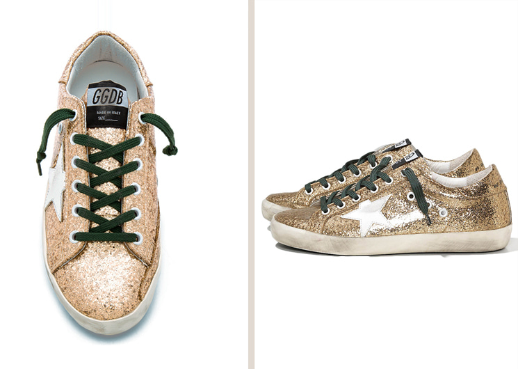 walking flea market-Golden Goose Gold Glitter Superstars Sneakers (현금 결제 전용)