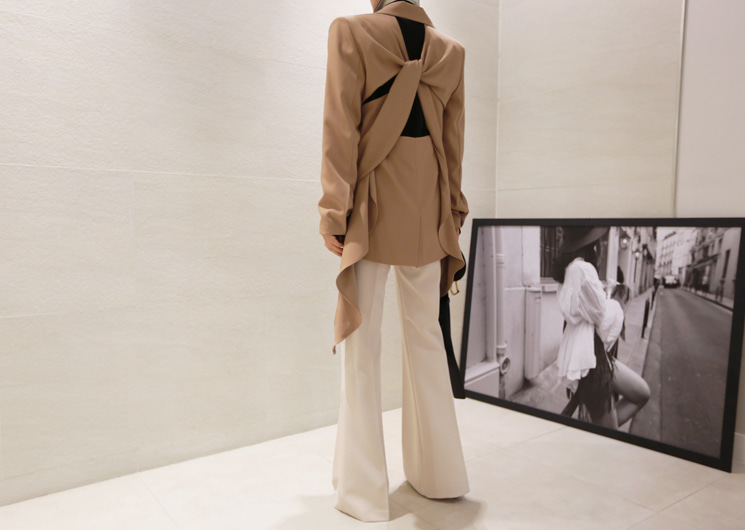 double chic jacket (beige)