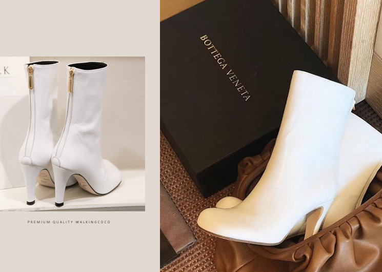bottega ankle heel (white)