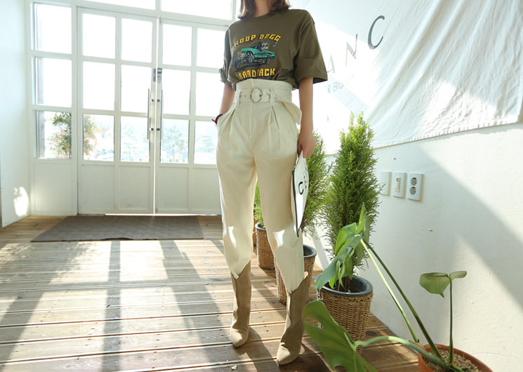corduroy belt pants