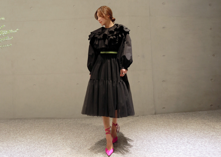 cha reel skirt (black)