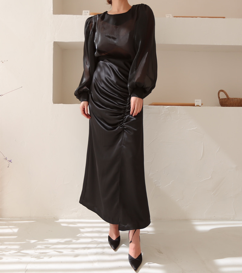 heaven skirt (black)