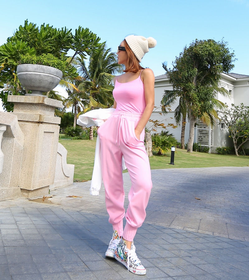 ice cream jogger pants (pink)