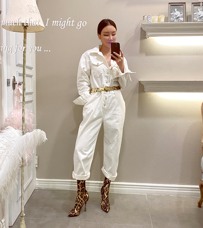 utility jump-suit (ivory)
