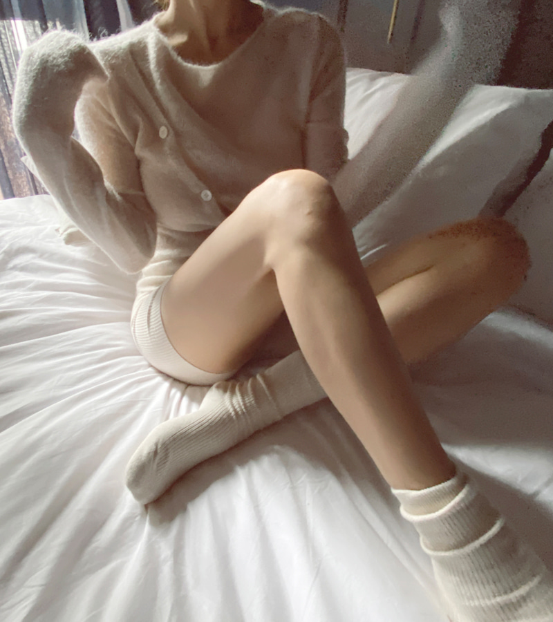 alpaca unbal knit (cream)