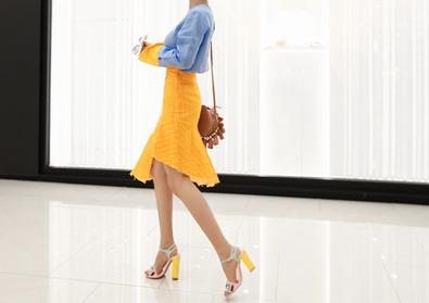 unbal stripe skirt